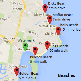 Location Watermark Resort Caloundra Official Site