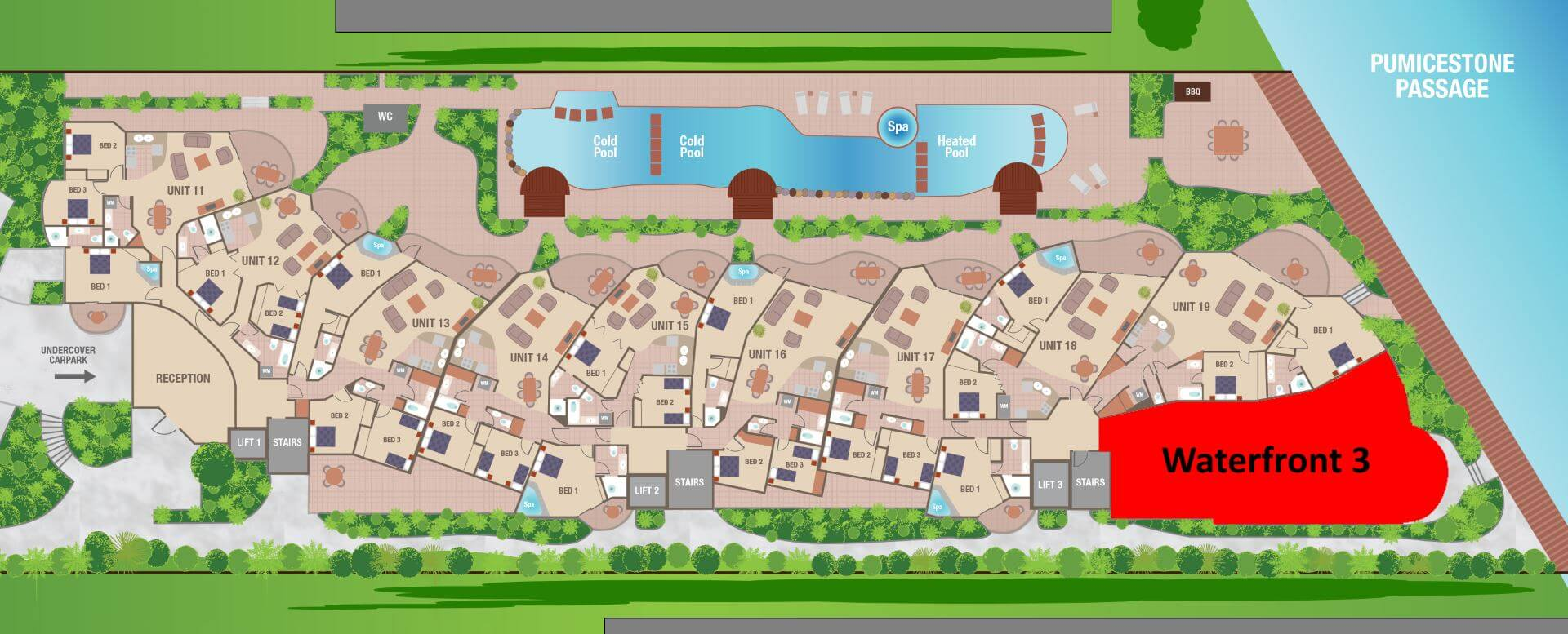 Waterfront 3 site plan